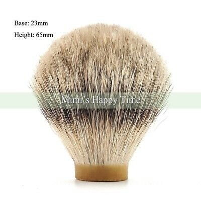 100% Silvertip Badger Hair beard Shaving Brush Knot - 23/65MM for 24mm handle