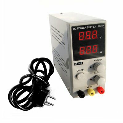 Switching DC Power Supply Adjustable Variable Digital Display 0-30V 0-5A Small