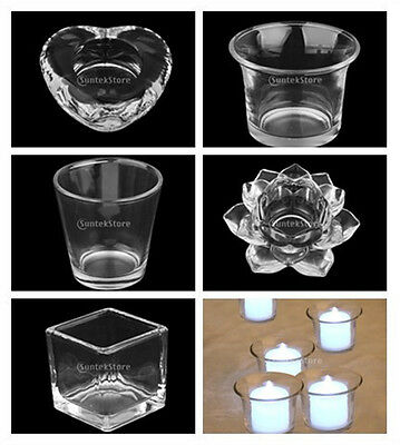 Clear Glass Tea Light/Votive Candle Holder Wedding Xmas Dining Table Centerpiece