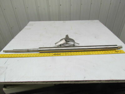"Lightnin 2"" OD Stainless Steel mixing shaft 46""long 5/8""x 4"" top of shaft"