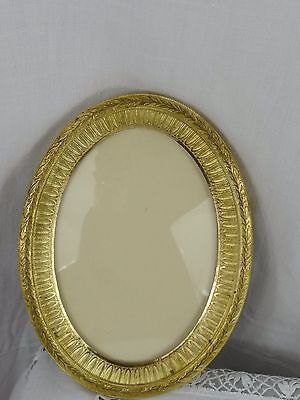 Gorgeous Antique French Empire Style Ormolu Gilt Bronze Picutre Oval  Frame