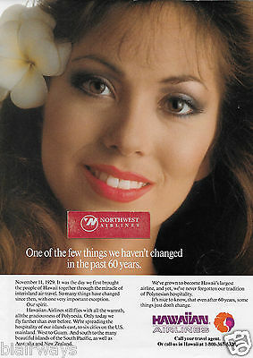 Hawaiian Airlines Over Past 60 Yrs One Thing We Haven't Changed- Spirit 1989 Ad