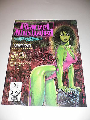 Marvel Illustrated The Swimsuit Issue V1 #1 Marvel Thor Thing Ironman NM 1991