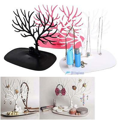 Jewelry Necklace Ring Earring Tree Stand Display Organizer Holder Show Rack TL