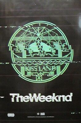 The Weeknd 2013 Kissland Huge 2 Sided Promotional Poster ~New~Mint Condition~!