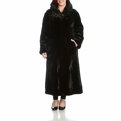 Womens Plus Size Beaver Faux Fur Coat
