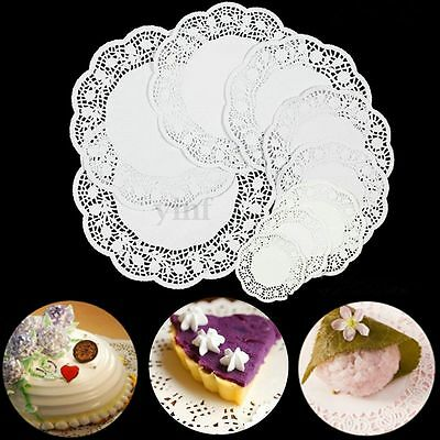 White Round Paper Lace Doyleys Doilies Catering Party Wedding Crafting Coasters
