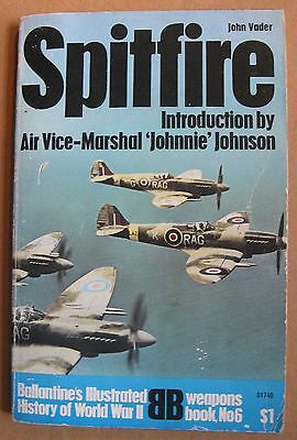 "1969 ""Spitfire"" by John Vader  Ballantine's Illustrated History of WWII, 160 pg"