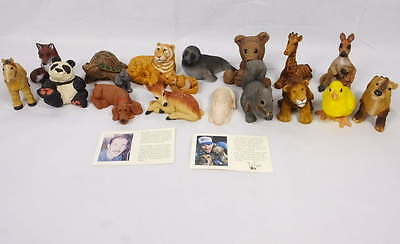 Lot 18 Vintage Don James Artist Signed Animal Collection Figurines 1980's