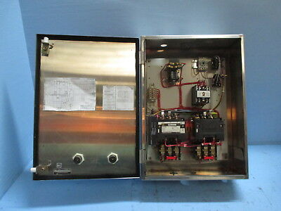 Square D 8810-SDO2 SS Enclosed Size 2 Reversing 2-Speed Starter Stainless Sz2