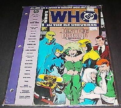 Who's Who in the DC Universe 48 Page Loose Leaf #7 NM 1991 Justice JLA Lot of 10