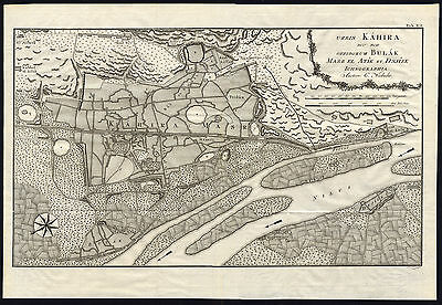 Antique Map-PLAN-KAHIRA-CAIRO-EGYPT-AFRICA-NILE-Niebuhr-Koning-1776