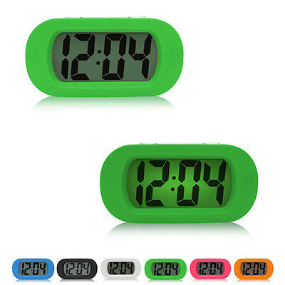 New Luminous Electronic Alarm Clock Mute Silicone Bedroom LED Clock No Bettery