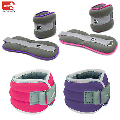 Sporteq,Ladies Comfort Fit, Ankle & Wrist Weights, 2 x 1.5 kg,Gym/Running/Cardio