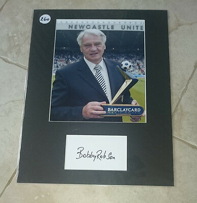 Sir Bobby Robson - Newcastle United Fc - Signed Photo Mount