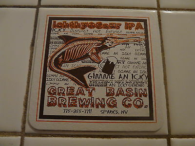 Rare Beer Coaster ~ GREAT BASIN Brewing Dr Church/'s Living Room Lager ~ NEVADA