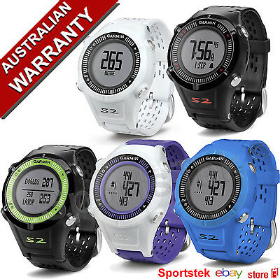 GARMIN APPROACH S2 GOLF GPS WATCH PRELOADED 30 000 + Courses BLACK,WHITE,BLUE