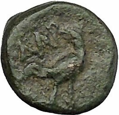 Dardanos in Troas 400BC Horseman Rooster Authentic Ancient Greek Coin i50486