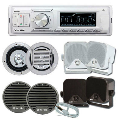 AXIS Marine Stereo Kit MA1400BT Bluetooth + 1 Pair Speakers + Antenna - Compact