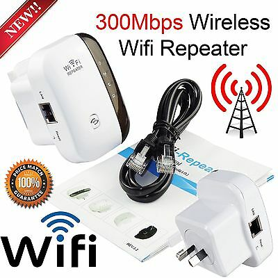 300Mbps Wireless N 802.11 WiFi Range WI-FI Repeater Router Extender Booster AU