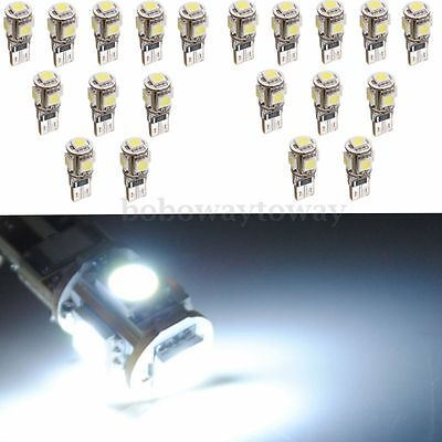 20x Veilleuse LED W5W T10 194 168 501 Canbus ANTI ERREUR ODB 5050 XENON 5 SMD NF