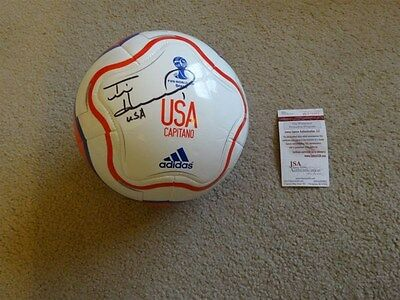 Tim Howard Signed Auto World Cup Usa White Soccer Ball Jsa Autographed