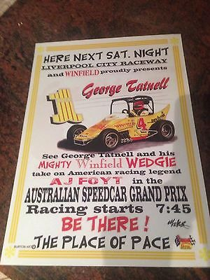 Here Next Sat. Night Liverpool City Raceway George Tatnell Print