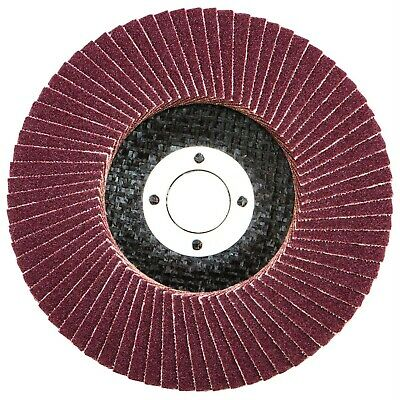"10 PACK - FLAP DISCS 115mm 4.5"" SANDING 40 60 80 120 GRIT GRINDING WHEELS"