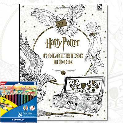 Harry Potter Colouring Book by Warner Brothers With Colouring Pencils Brand NEW