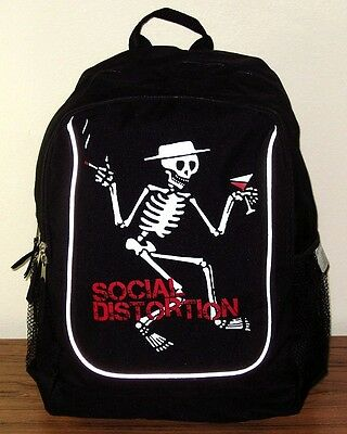 """SOCIAL DISTORTION BACKPACK Book Bag """"Skelly"""" Authentic Licensed NEW"""