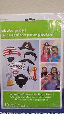 PIRATE Photo Booth Props Set of 10 PIRATE Party  - Create Fun Photos!