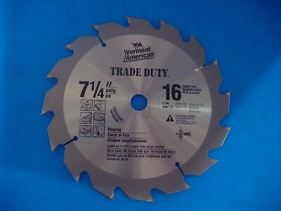 """7 1/4"""" 100 Tooth  Steel Crosscut Plywood Circular Saw Blade Vermont American"""