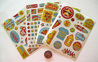 Scrapbooking No 319 - 50 Plus Merit Or Well Done Stickers - Scrapbooking