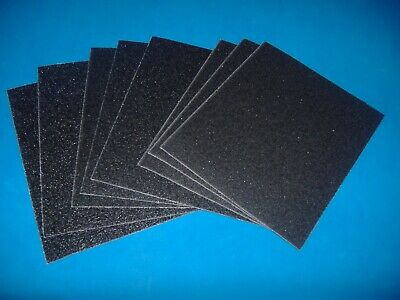 Lot Of Eight Piece 1/4 Sheet Assorted Emery Cloth Palm Sander Paper