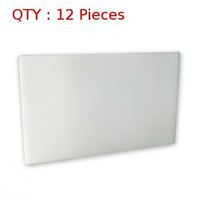 12 New Premium Heavy Duty Plastic White Pe Cutting / Chopping Board 610X915X25mm