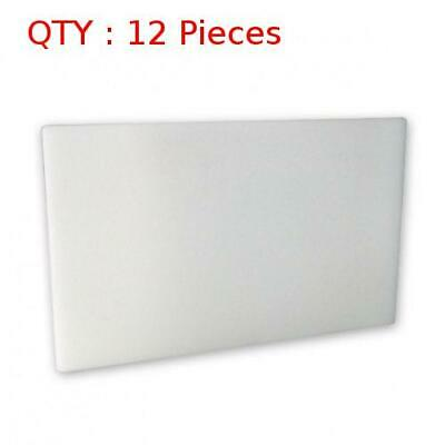 12 Heavy Duty White Plastic Kitchen Hdpe Cutting/Chopping Board762X1219X13mm