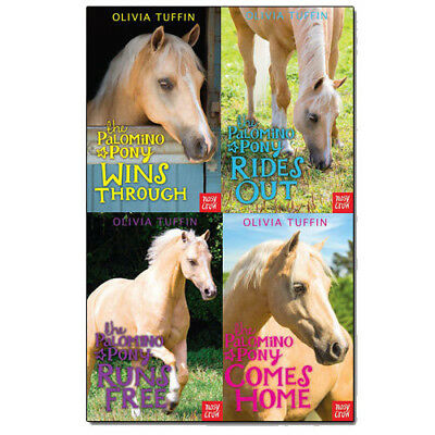 Palomino Ponies Collection Olivia Tuffin 4 Books Set Comes Home ,Rides Out NEW