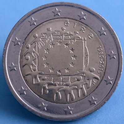 "Irland 2 Euro 2015 ""30 Jahre Europaflagge "" unc."
