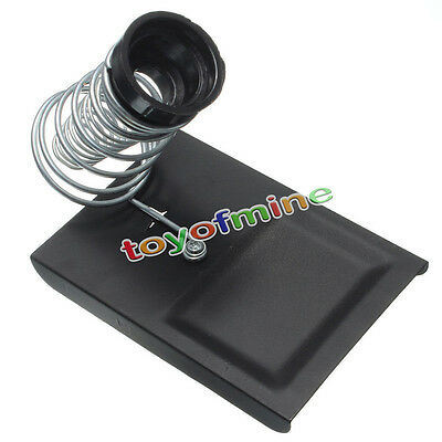Soldering Solder Iron Metal Rectangle Stand Spring Holder Cast Steel Square Base