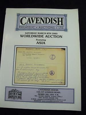 CAVENDISH AUCTION CATALOGUE 2003 WORLDWIDE with ASIA