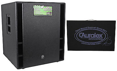 """Mackie THUMP18 THUMP-18 18"""" 1200w 18"""" Powered Active Subwoofer Sub+Isolation Pad"""