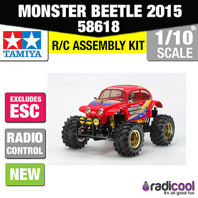 New! 58618 Tamiya Vw Red Monster Beetle 2015 Rwd 1/10Th R/c Kit Radio Control