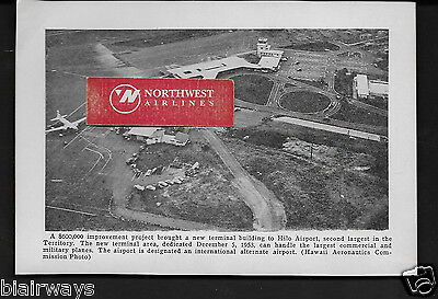 Hilo Airport 1954 New 500,000 Airport Terminal Hawaiian Airlines Cv 340 Picture