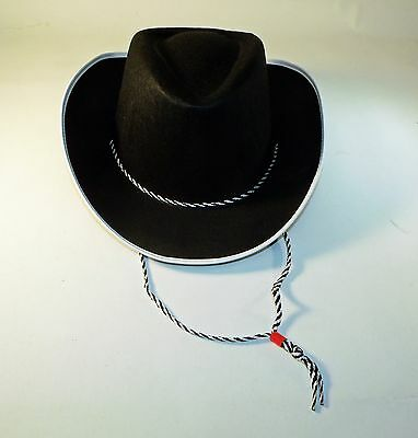 Child' Black Cowboy Hat - Choose from size S, M, L - Great for Halloween Costume