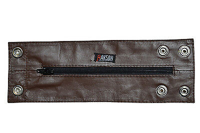 Brown Leather Wristband Arm Money Wallet Hand Cuff Wrist Band Brand New #7103