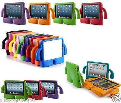 3D kids cute shockproof EVA foam Child Soft Grip stand cover case for iPad 2,3,4