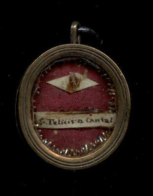 Klosterarbeit reliquie S.FELICIS A CANTALICE. 19 Jh.