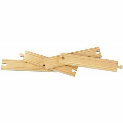 "Wooden Railway - Thomas & Brio Compatible 8"" Straight Track - 50903 - New"