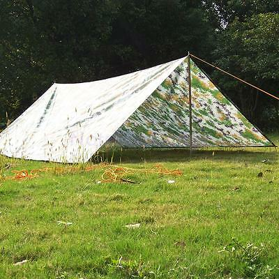 Waterproof Army Military Camping Tarp Awning Trail Tent Shelter Cover Sheet