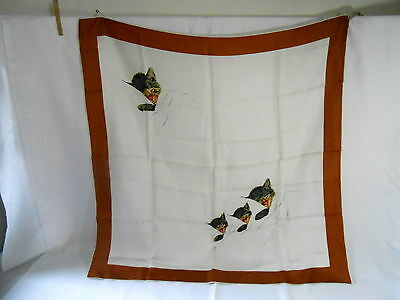 "Vintage ""Chessie"" Lady Heritage Chesapeake & Ohio Railroad Co. Silk Scarf"